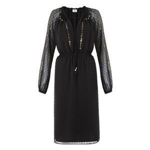 Altzurra x Target Sequin Long Sleeve Black Dress